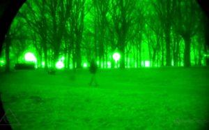 photo d'une vue dans un appareil de vision nocturne